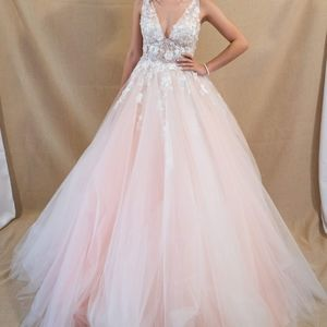 Cinderella prom dress, small, blush